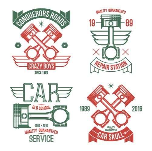 Parts icon vector