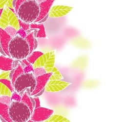 Pink flowers and yellow leaves vector background 03
