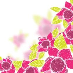 Pink flowers and yellow leaves vector background 09