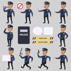 Police characters collection