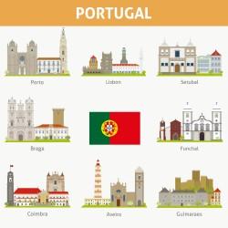Portuguese cities illustration