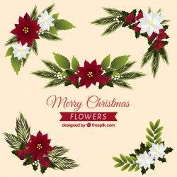 Pretty christmas flower ornaments