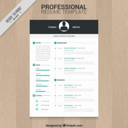 Professional resume template Vector | Free Download