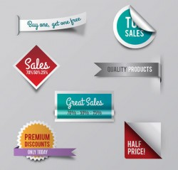 Promotional labels and stickers