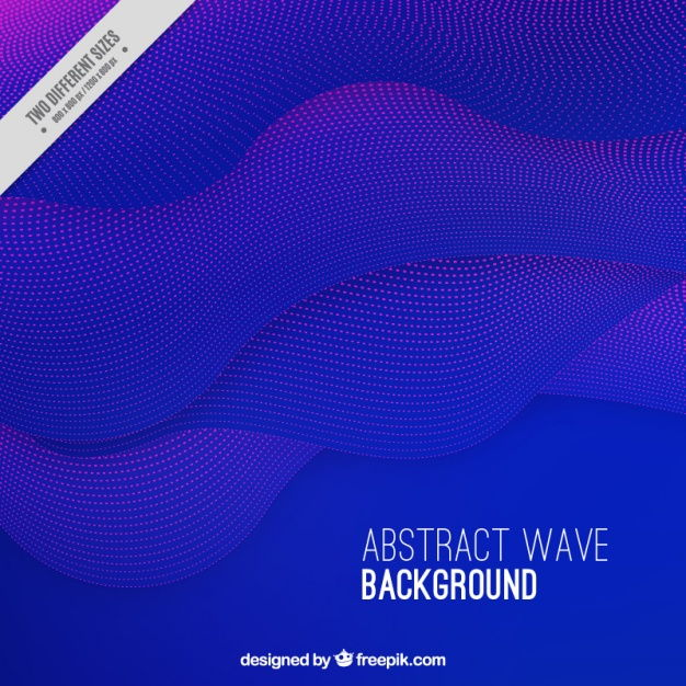Purple abstract wave background