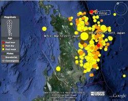 Real-time Earthquakes Plugin Google Earth