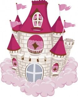 Red with pink castles