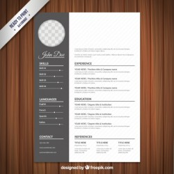 Resume template in classical style Vector | Free Download