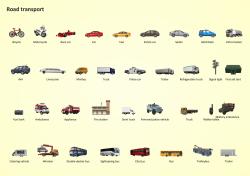 Road Transport Design Element. Transport illustrations