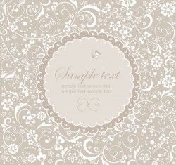 Round lace with decor card