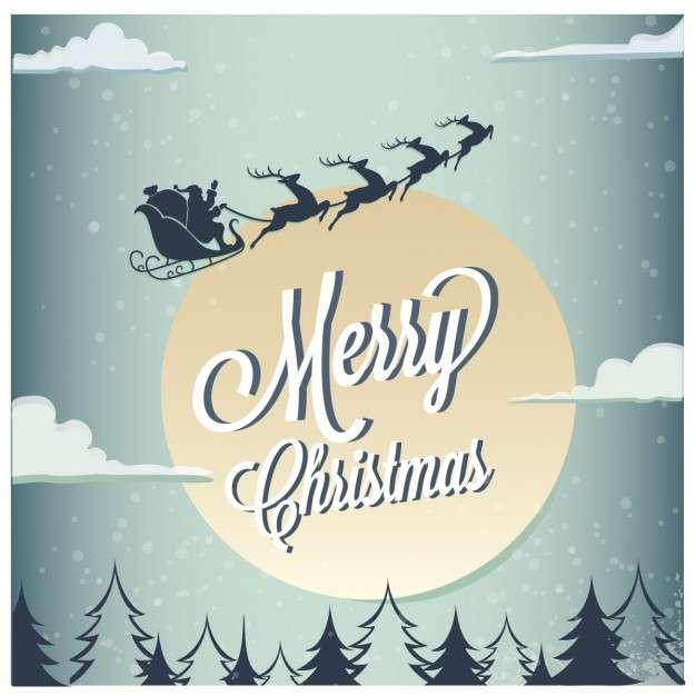 Santa claus christmas card Vector | Free Download