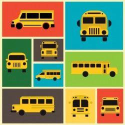 School bus designs collection