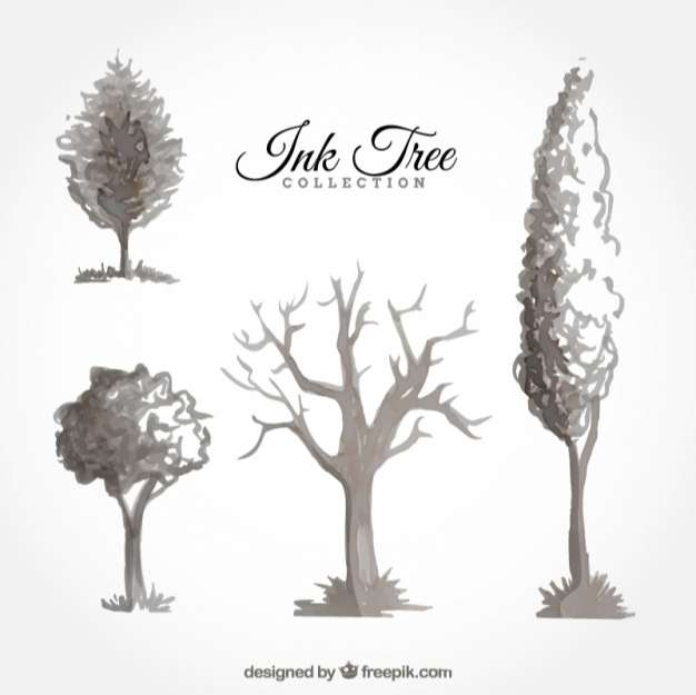 Set of ink trees