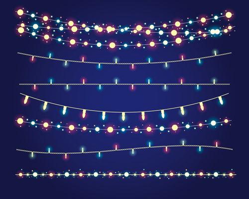 Shininy colored light bulb elements