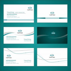 Simple business cards vector pictures