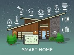 Smart home flat template vector