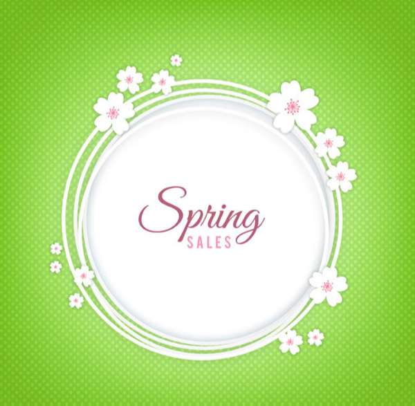 Spring Promotion garland vector