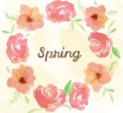 Spring Watercolor Flower