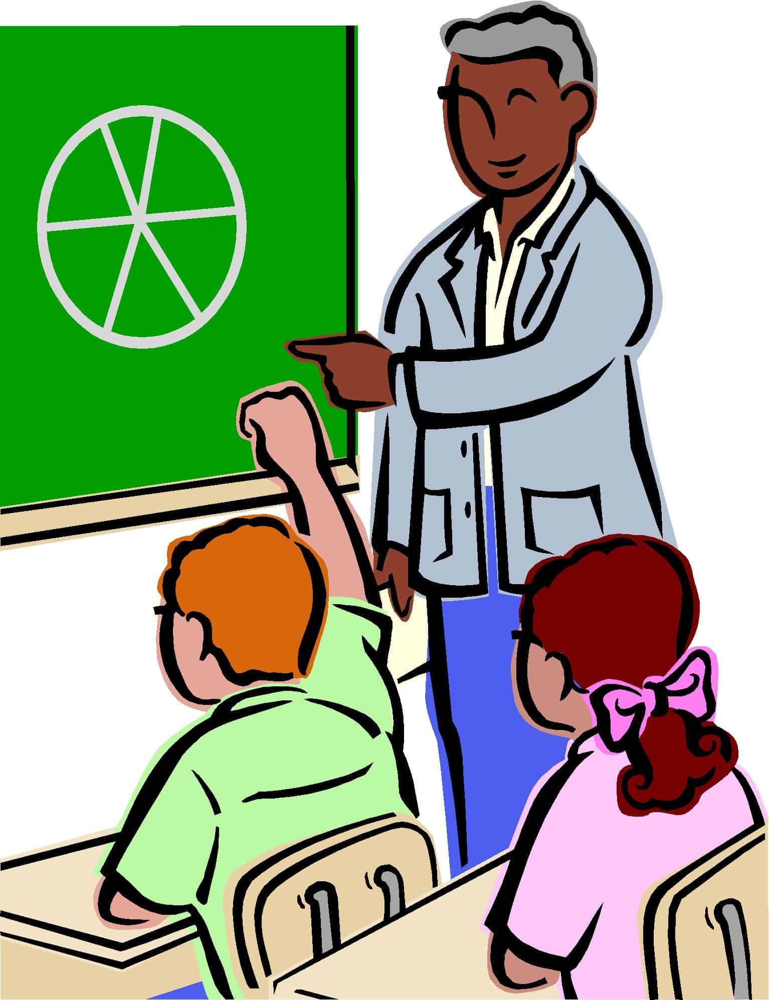 Student teacher clip art