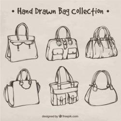 Stylish hand-drawn bag collection