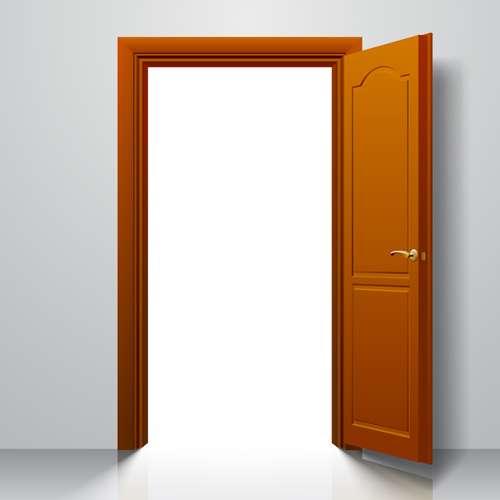 Suite door design vector 03
