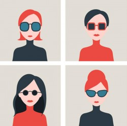 Sunglasses girl Avatar vector