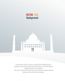 Taj Mahal white stereo vector