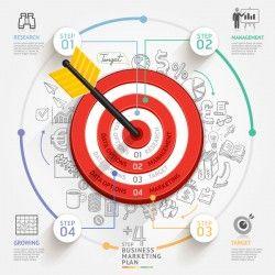 Target hit Infographics vector template 04