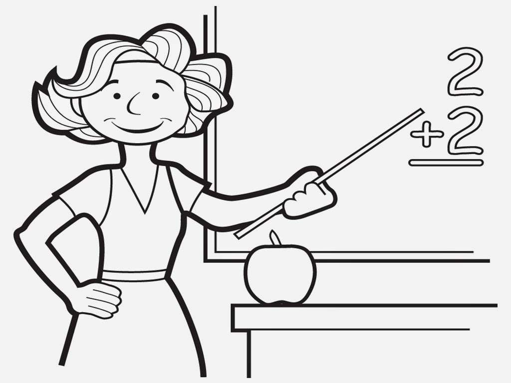 Teacher Coloring Pages | Realistic Coloring Pages