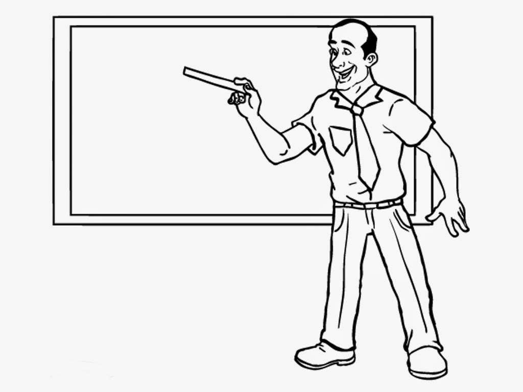 Teacher Coloring Pages   Realistic Coloring Pages