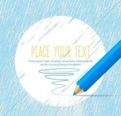 Text background color pencil vector pictures