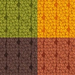 Textures knitted pattern set vector 03