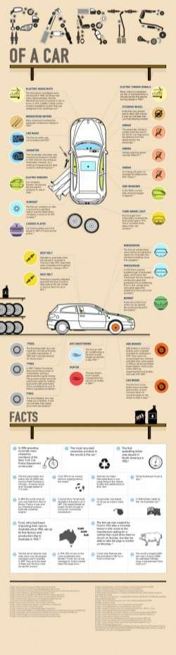 The Parts of a Car [Infographic] | Daily Infographic