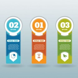 Three banners tags for infographics