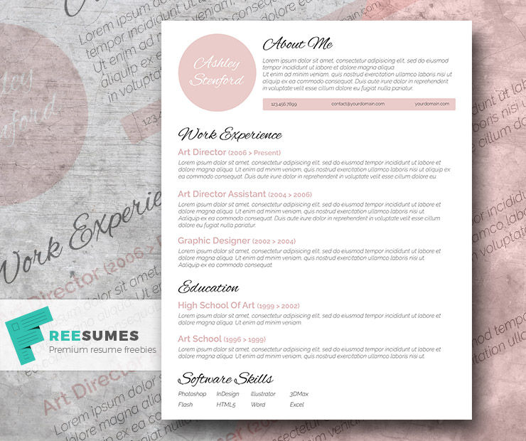 Touch of Pink – A Beautiful Free Resume Template