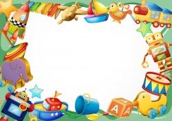 Toys with paper background vectors 01