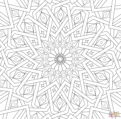 Traditional Islamic Mosaic | Super Coloring
