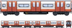 Train cars designed vector