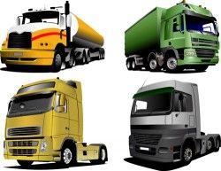 Truck vector car material