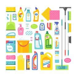 Various cleaning tools vector huge collection 03