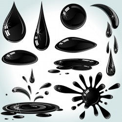 Various states of oil droplets vector