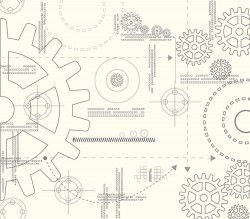 Vector drawing vector background material