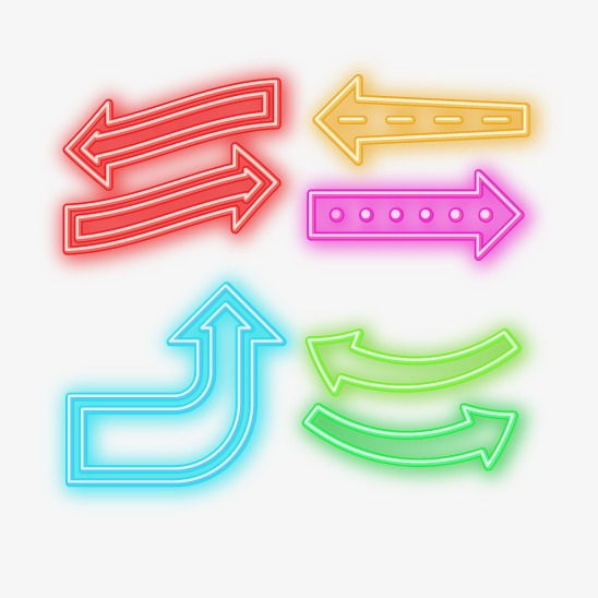 Vector neon arrows