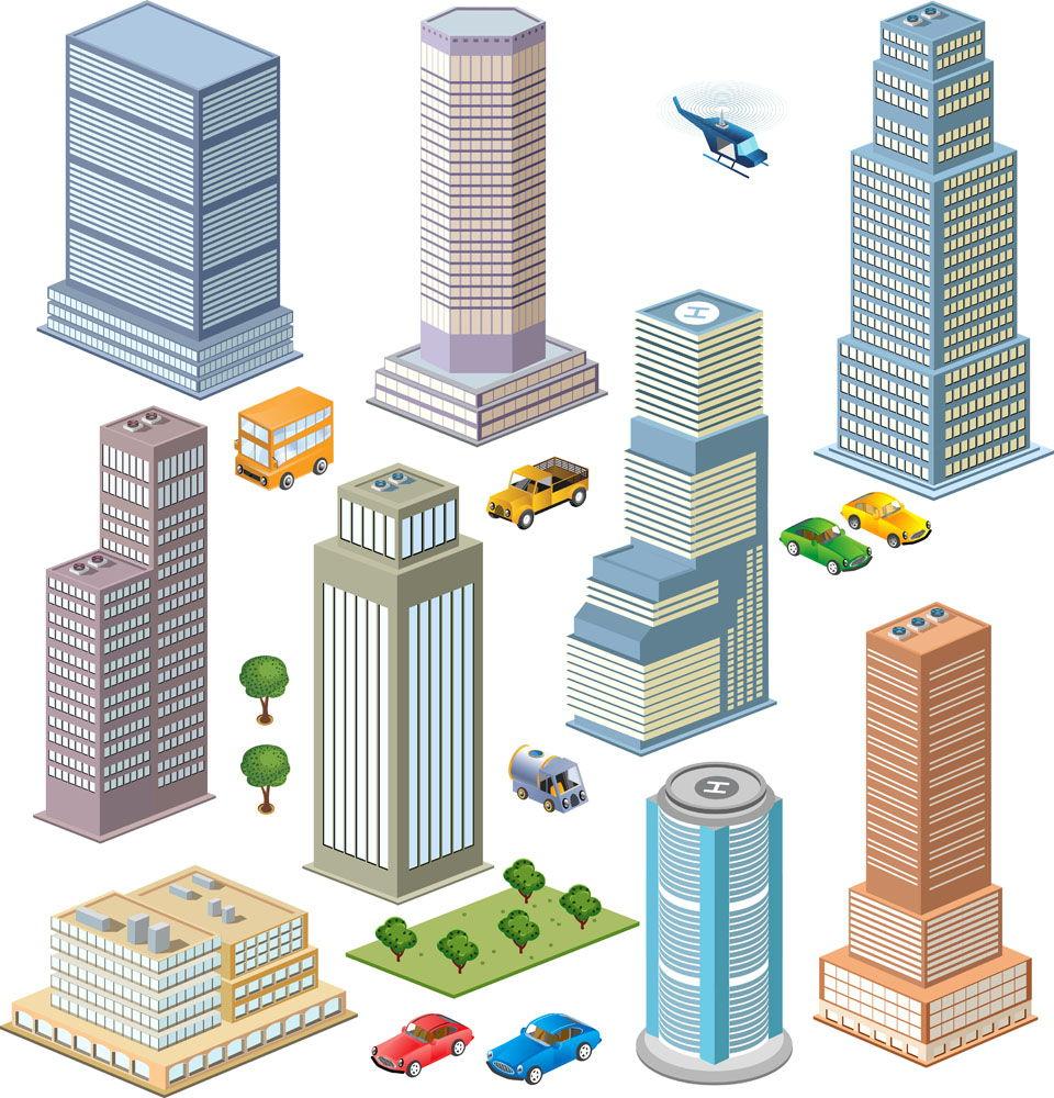 Vector urban element vector