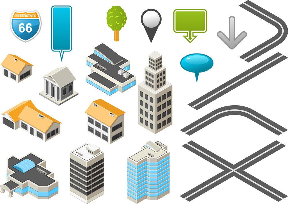 Vector urban element