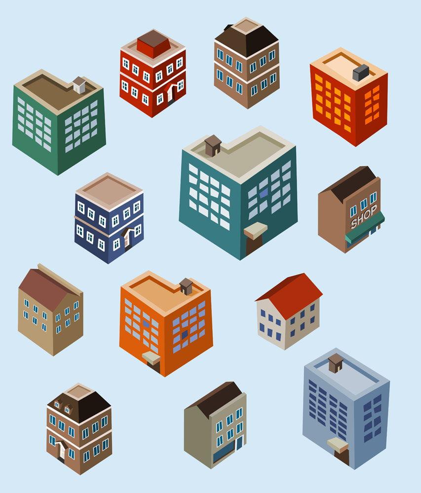 Vector Urban Housing