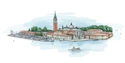 Venice landscape illustration