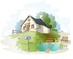Villa Rural landscape vector