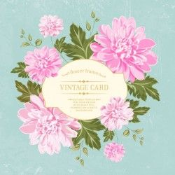 Vintage card flowers design