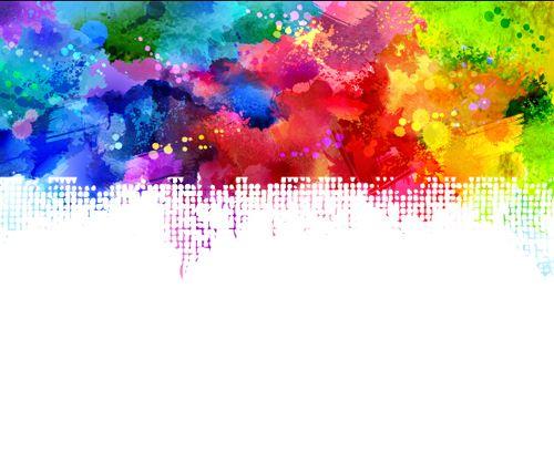 Watercolor grunge background design 09